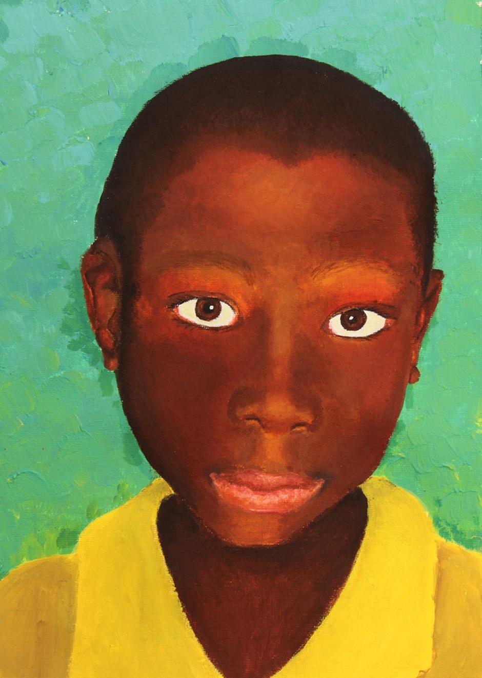 2013 African boy portrait by Mia