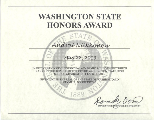 2013-05-22 Washington State Honors Award - Andrei's Highschool Graduation 001