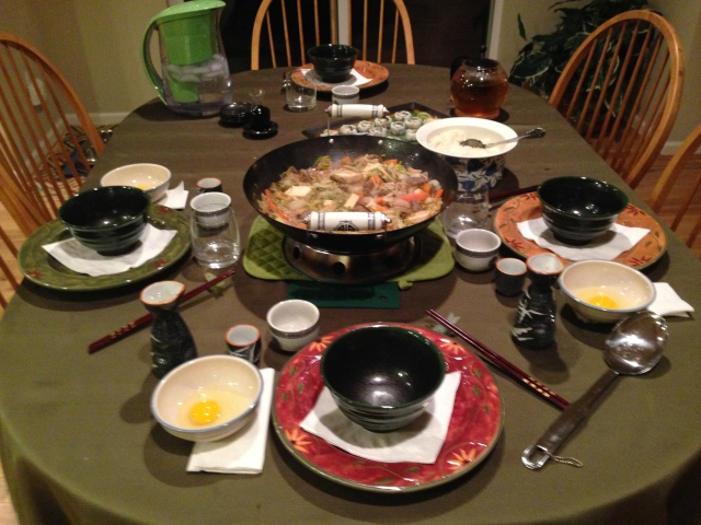 Sukiyaki dinner